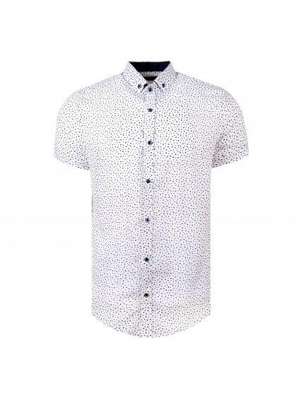 Košile BAMBOO slim fit krátký rukáv bílá