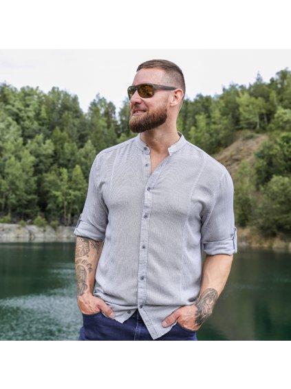 košile FRANK Regular šedá