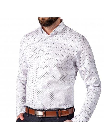 Košile JOHNNIE Slim bílá se vzorem II