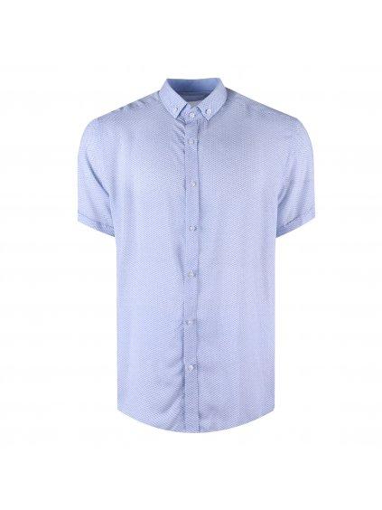Košile BAMBOO VITO regular krátký rukáv světle modrá