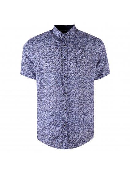 košile BAMBOO 20 Regular krátky rukáv modrá