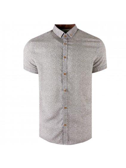 košile BAMBOO 20 Slim krátký rukáv hnědá