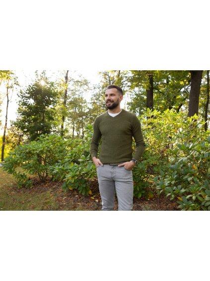 Pánský svetr Mark khaki