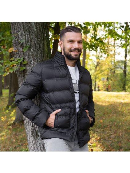 Pánská zimní bunda VALERMO - tm. modrá