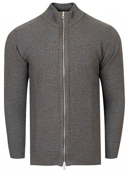 Pánský svetr ANDREW celopropínací - šedý