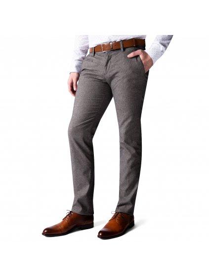 Kalhoty OLIVER šedé s kontrastní nitkou