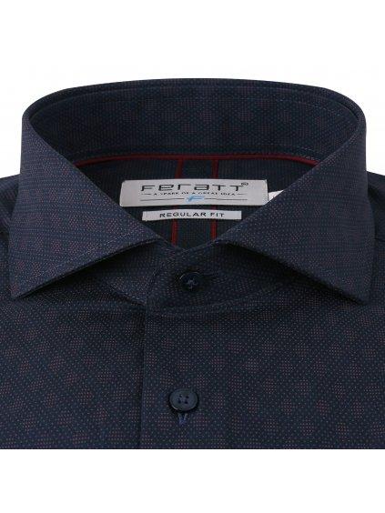 Pánská košile LEE Regular - oranžový vzor