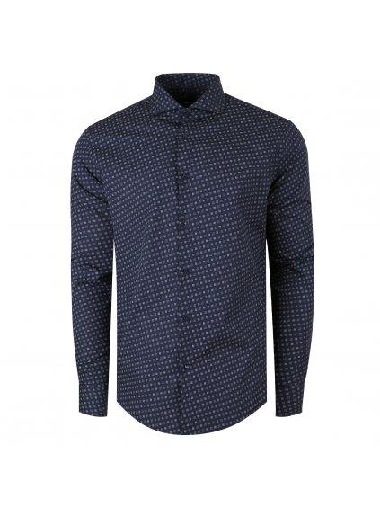 Pánská košile PAOLO Modern - modrý vzor