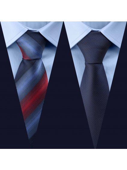 Set 3: Košile F-LINE Modern modrá + 2 kravaty