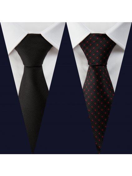 Set 1: Košile F-line II Slim + 2 kravaty