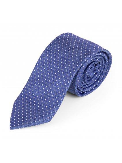 Hedvábná kravata světle modrá se vzorem