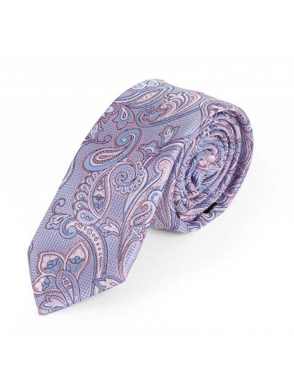 Kravata růžová se vzorem L215