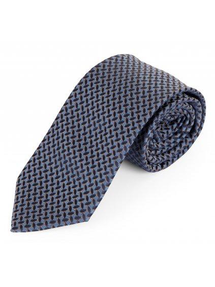 Kravata modrá se vzorem A127