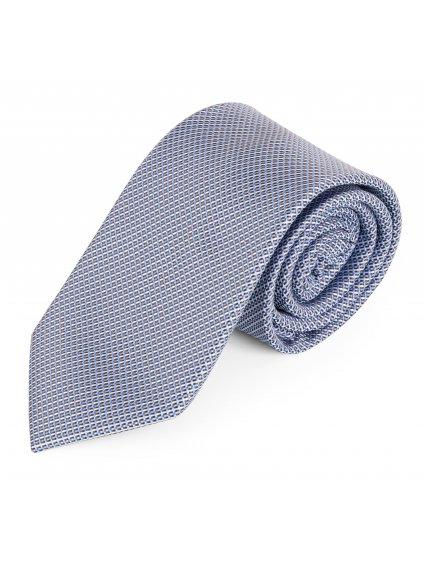 Kravata modrá vzorovaná A133