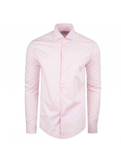 Pánská košile FERATT DON VITO slim fit růžová