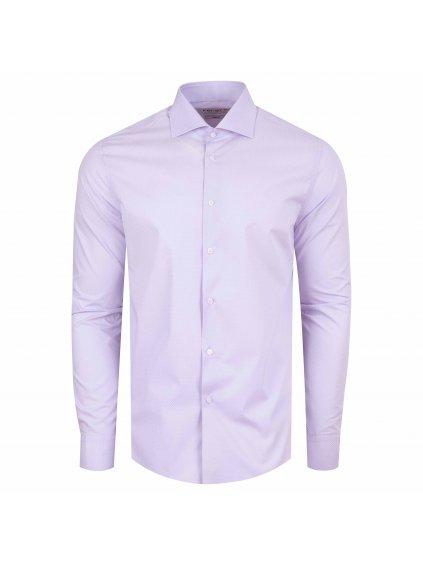 Pánská košile FERATT DON VITO slim fit fialová
