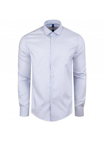 Pánská košile FERATT JOHN slim světle modrý vzor