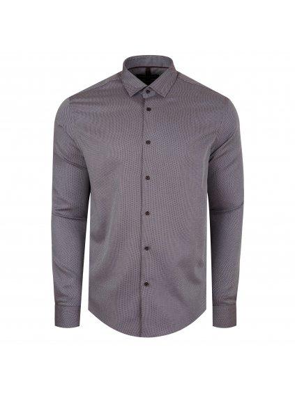 Pánská košile FERATT JAMIE modern hnědá