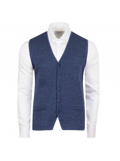 Pánská vesta FERATT EDWARD světle modrá