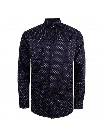 košile MERCEDES REGULAR FIT tm. modrá