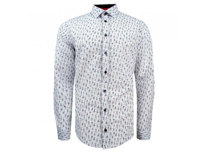 košile STEFANO SLIM FIT bílá m.