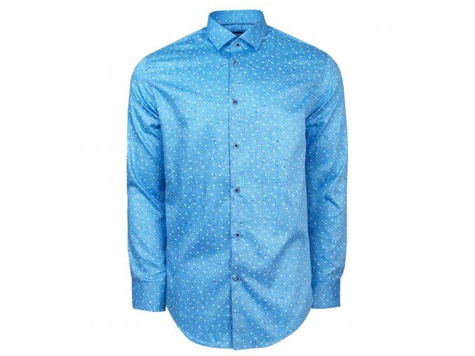 košile ALESSIO Modern. sv. modrá