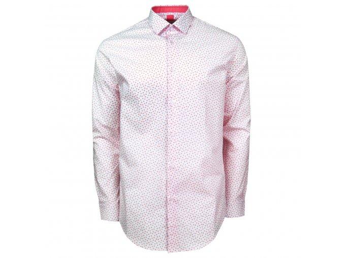 košile KIERAN Modern bílorůžová