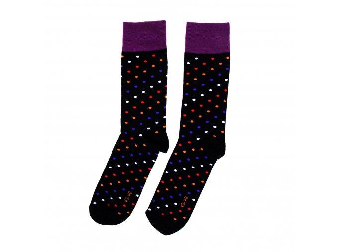 Ponožky DOTS černofialové