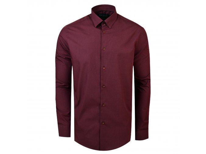 Košile TOM Modern bordó