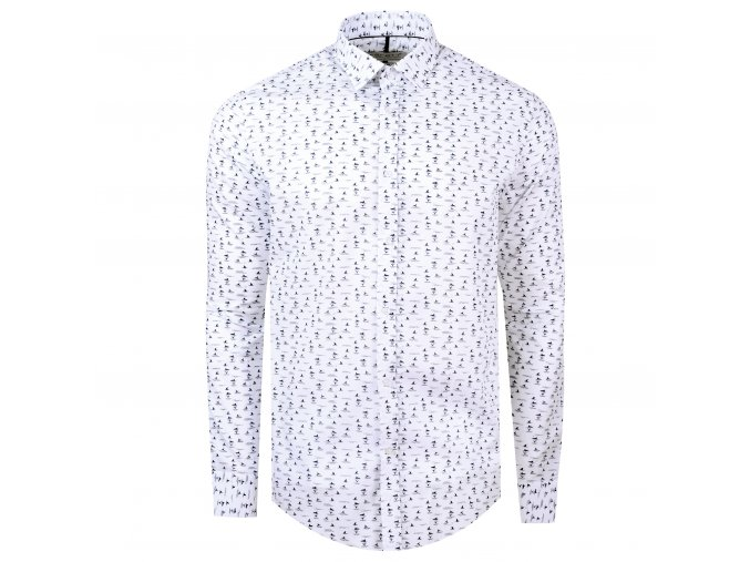 košile REQUIN Slim fit bílá m.