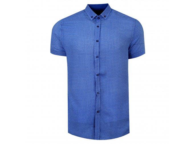 košile FERNANDO Slim fit krátký r. sv.modrá
