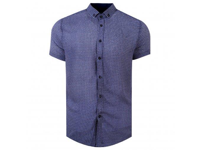 košile FERNANDO Slim fit krátký r. modrá