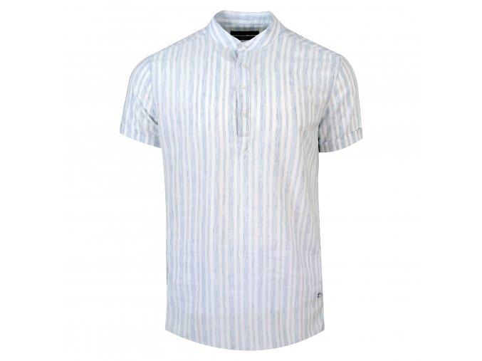 košile FRANKIE Slim fit krátký r. světle modrá