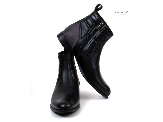 boty FERATT černé 02891