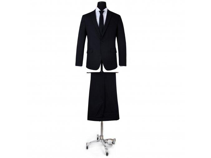 oblek - stretch suit BLACK
