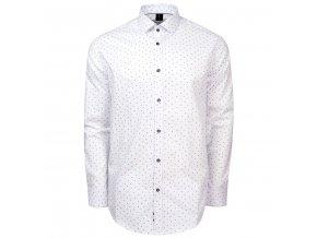 košile VALERIO bílá modrý microprint