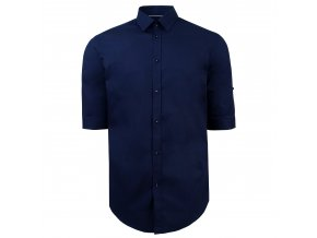 košile PATRICK Modern. tm. modrá