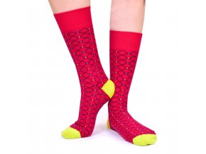 Ponožky FENCE červené