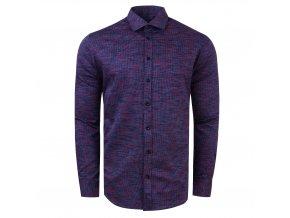 košile CHARLIE Slim fit modrofialová 14ad8feb97