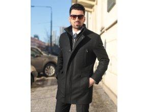 Kabát černý casual