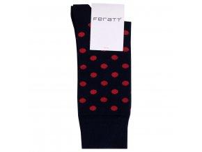 Ponožky DOTS černočervené