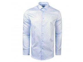 košile ADAMS Slim fit sn. modrá