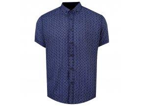košile BAMBOO Reg.krátky r. modrá