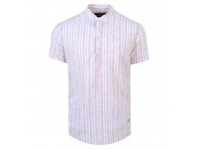 košile FRANKIE Slim fit krátký r. bordó