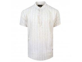 košile FRANKIE Regular krátký r. béžová