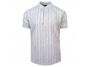 košile FRANKIE Regular krátký r. šedá