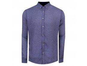 košile DAN Regular modrobílá