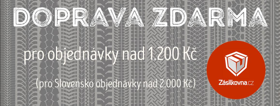 Doprava zdarma pro objednávky nad 1.000 Kč (pro zákazníky ze Slovenska platí při objednávce nad 2.000 Kč)