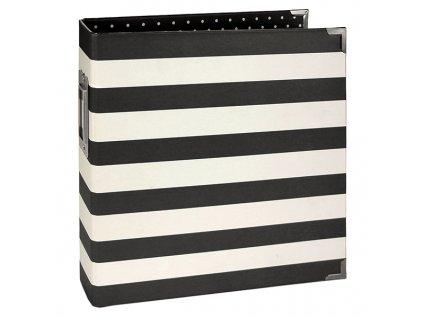 10311 6x8 designer binder black stripe