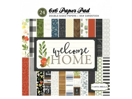 cbwho74015 welcome home 6x6 paper pad cover
